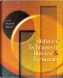 Statistical Techniques in Business and Economics W/ Student CD and PowerWeb by Douglas A. Lind, Douglas Lind, Robert D. Mason, Robert Mason, William G. Marchal, William Marchal