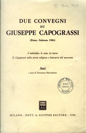 Due convegni su Giuseppe Capograssi