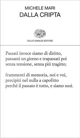 Dalla cripta by Michele Mari