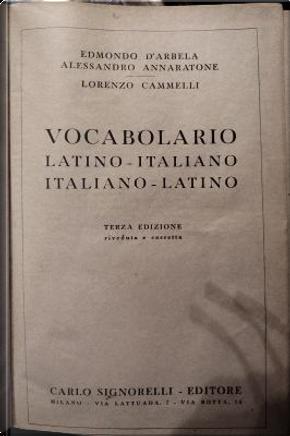 Vocabolario by Alessandro Annaratone, Edmondo D'Arbela, Lorenzo Cammelli