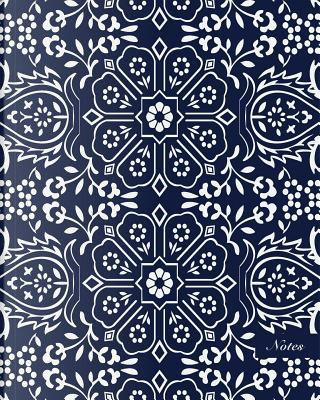 Oriental China Porcelain Notebook - Polygon Geometry Cross Frame Flower by Another Storyteller