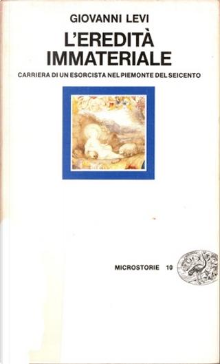 L'eredità immateriale by Giovanni Levi