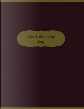 Court Reporter Large Logbook by Manchester Designs