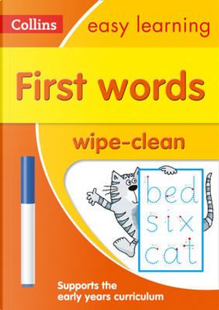 First Words Age 3-5 Wipe Clean Activity Book (Collins Easy Learning Preschool) by Collins Easy Learning