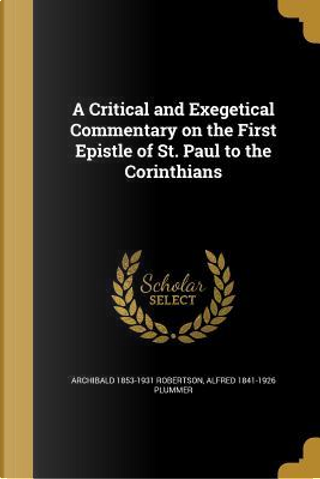 CRITICAL & EXEGETICAL COMMENTA by Archibald 1853-1931 Robertson