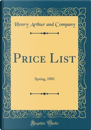Price List by Henry Arthur and Company