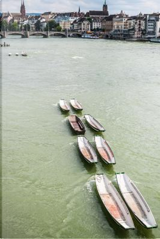 Basel on the Rhine River in Switzerland Journal by Cool Image