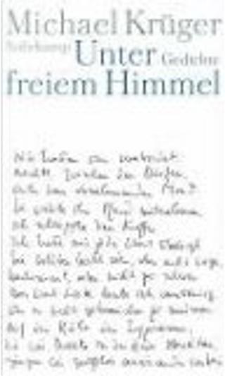 Unter freiem Himmel by Michael Krüger
