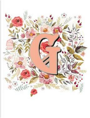 G Monogram Letter Floral Wreath Notebook by Terri Jones