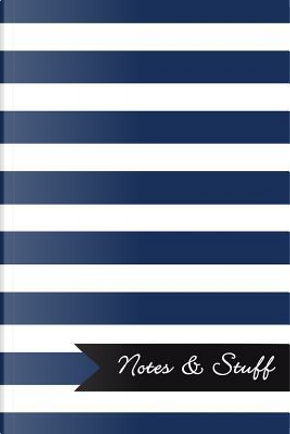 Lined Notebook With Sapphire Blue Striped Pattern Cover by Legacy