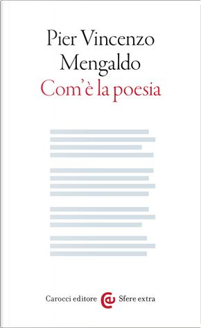 Com'è la poesia by Pier Vincenzo Mengaldo