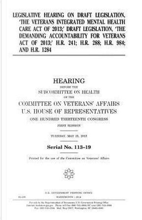 Legislative Hearing on Draft Legislation by United States Congress