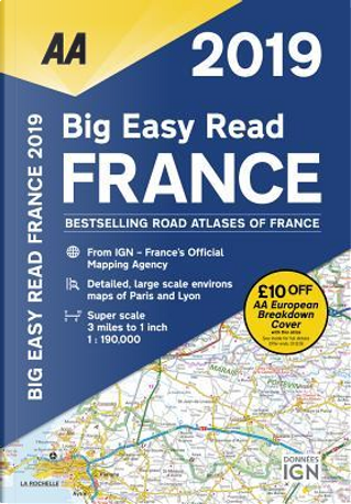 Aa Publishing 2019 Big Easy Read France by Automobile Association (Great Britain)