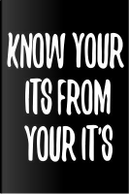 Know Your Its From Your It's by Pea Ridge Publishing