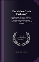 The Modern Droit D'Aubaine. by Simeon Eben Baldwin