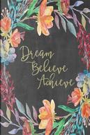 Chalkboard Journal - Dream Believe Achieve Sage by Marissa Kent