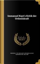 Immanuel Kant's Kritik Der Urtheilskraft by Immanuel 1724-1804 Kant