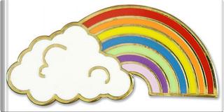 Rainbow Hard Enamel Cloisonne Pin by Inc. Peter Pauper Press
