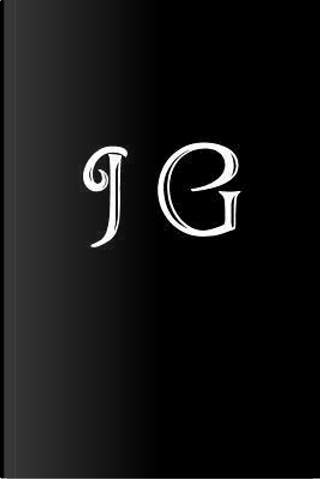 J G Double Monogram Journal - Black Glossy Cover by Little Bookshop