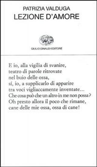 Lezione d'amore by Patrizia Valduga