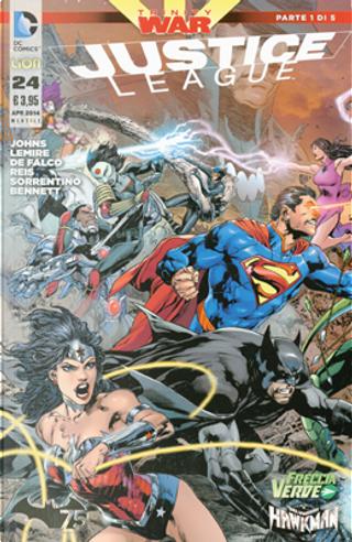 Justice League n. 24 by Geoff Jones, Jeff Lemire, Tom DeFalco