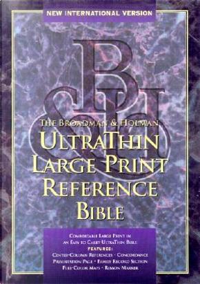 Niv Ultrathin Large Print Reference Bible by Bible