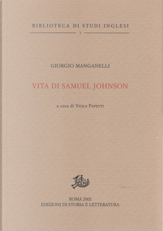 Vita di Samuel Johnson by Giorgio Manganelli