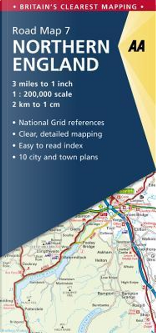 Aa Northern England Road Map by Automobile Association (Great Britain)