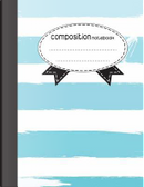 Composition Notebook White Sky Blue Color by Jason Patel