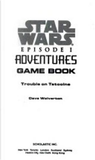 Star wars episode I adventures game book by Dave Wolverton