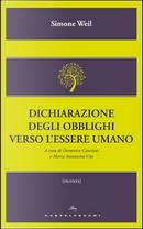 Dichiarazione degli obblighi verso l'essere umano by Simone Weil