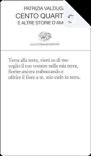 Cento quartine by Patrizia Valduga