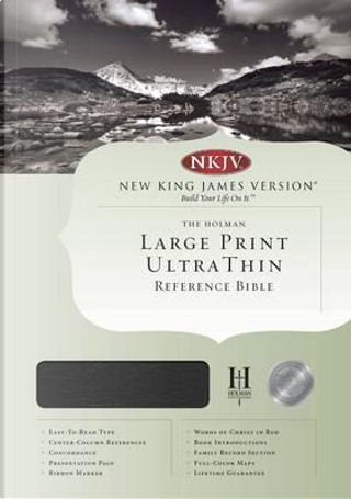 Holman Bible New King James Version Black Bonded Leather Ultra Thin Large Print Reference by Not Available