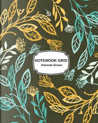 Blue and Yellow Flowers Grid Notebook by Hannah Green