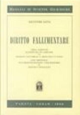 Diritto fallimentare by Adelmo Cavalaglio, Salvatore Satta