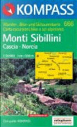 666: Monti Sibillini - Cascia Norcia 1:50, 000 by Kompass-Karten GmbH