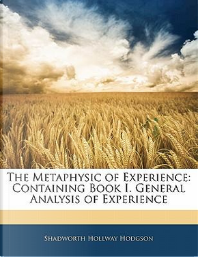 The Metaphysic of Experience by Shadworth Hollway Hodgson
