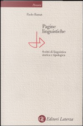 Pagine linguistiche by Paolo Ramat