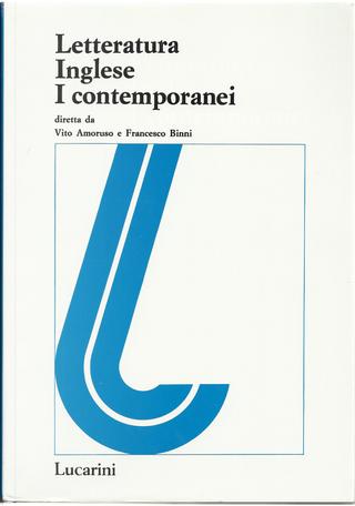 Letteratura inglese 1.2 by Francesco Binni, Vito Amoruso