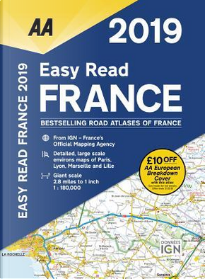 Aa Publishing 2019 Easy Read France by Automobile Association (Great Britain)