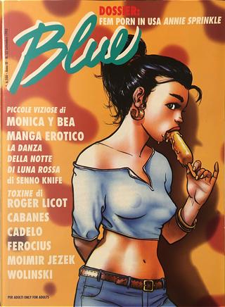 Blue n. 32, anno III, settembre 1993 by Damian Carulla, Ferocius, Georges Wolinski, Hausman, Max Cabanes, Moimir Jezek, Monica e Bea, Roger Licot, Senno Knife, Silvio Cadelo