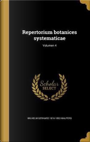 LAT-REPERTORIUM BOTANICES SYST by Wilhelm Gerhard 1816-1853 Walpers