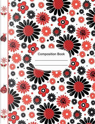 Ladybugs Cute Flowers Hearts Composition Notebook 5x5 Quad Ruled Paper by SLO Treasures