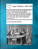 A Concise View of the Law of Landlord and Tenant by Joseph Haworth Redman