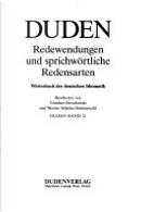 Duden, Redewendungen Und Sprichwortliche Redensarten by Gunther Drosdowski, Inc Distribooks