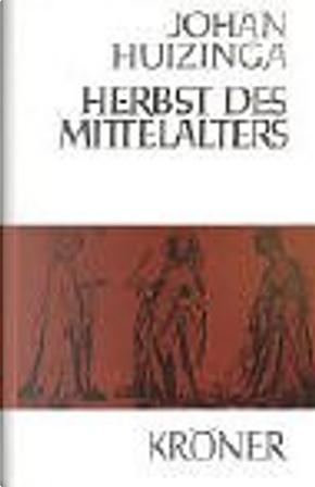 Herbst des Mittelalters by Johan Huizinga