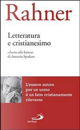 Letteratura e cristianesimo by Karl Rahner