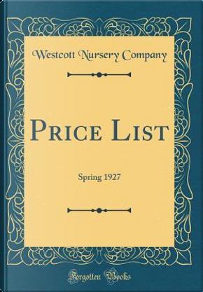 Price List by Westcott Nursery Company
