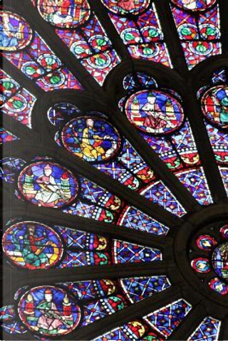A View of the Stained Glass Window in the Notre Dame of Paris France Journal by CS Creations