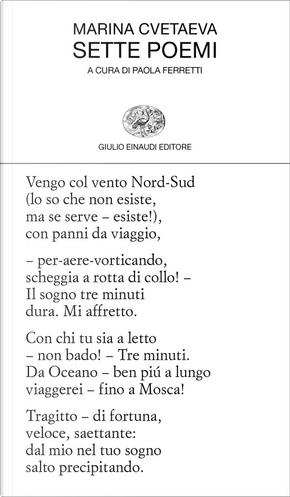 Sette poemi by Cvetaeva Marina